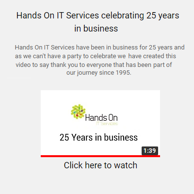Hands On IT Services 25 Years in Business